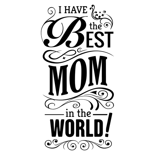 Mothers day quotes clipart vector transparent Mothers Day Quote With Ornaments By Vexels vector transparent