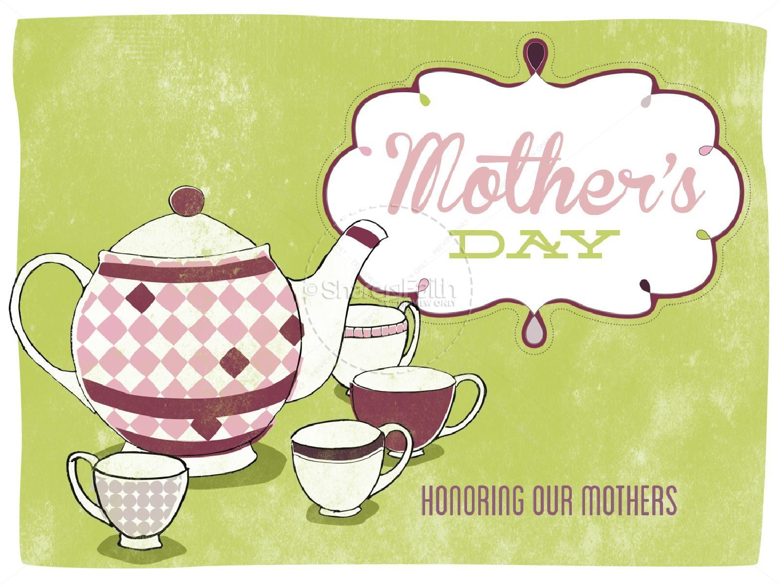 Mothers day tea clipart svg transparent download Mother\'s Day Tea Party PowerPoint | Mothers Day PowerPoints svg transparent download
