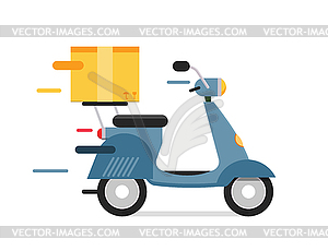 Moto delivery clipart picture transparent stock Delivery transport moto bike motorcycle box pack - royalty ... picture transparent stock