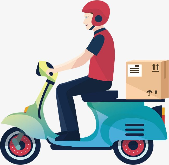 Moto delivery clipart image download A Motorcycle Delivery Man, Vector Png, Delivery, Express ... image download