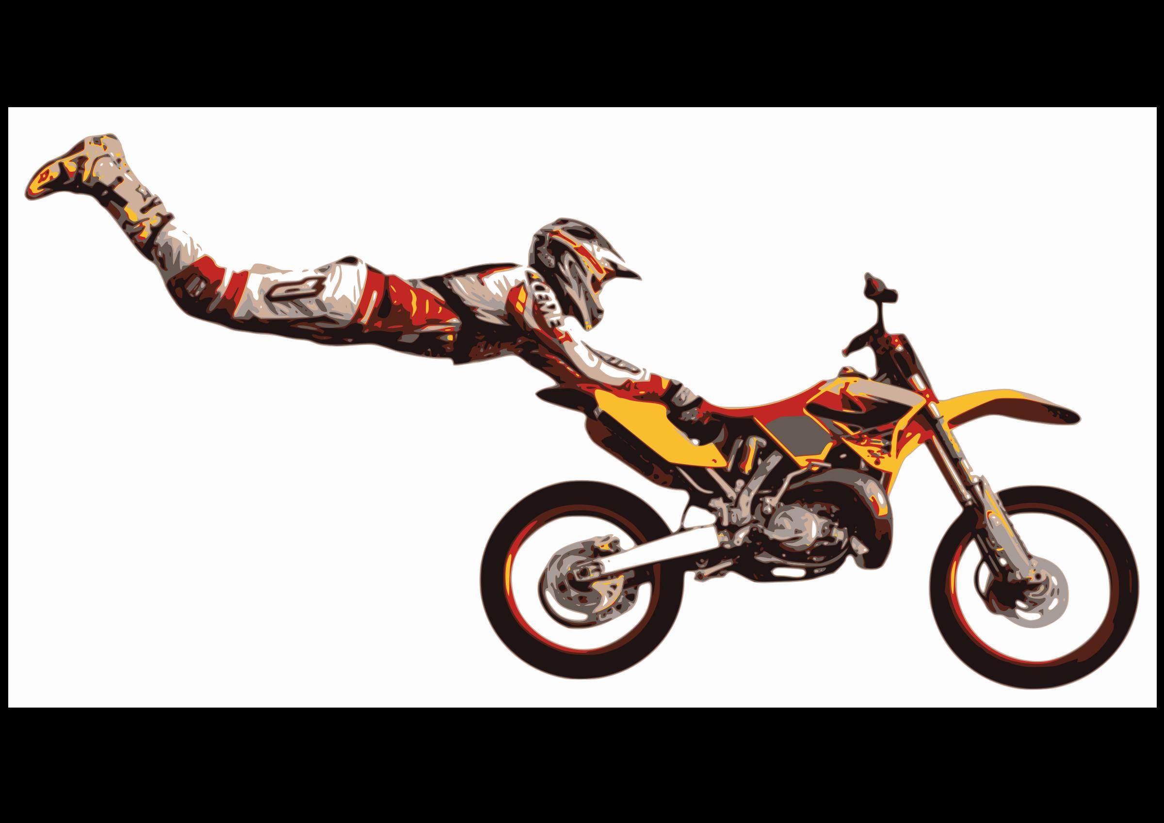 Motor cross clipart jpg free Clipart - motorcycle enduro jpg free