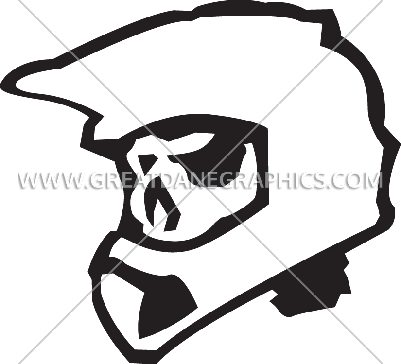 Motor cross clipart graphic download Skeleton Motocross Helmet | Production Ready Artwork for T-Shirt ... graphic download