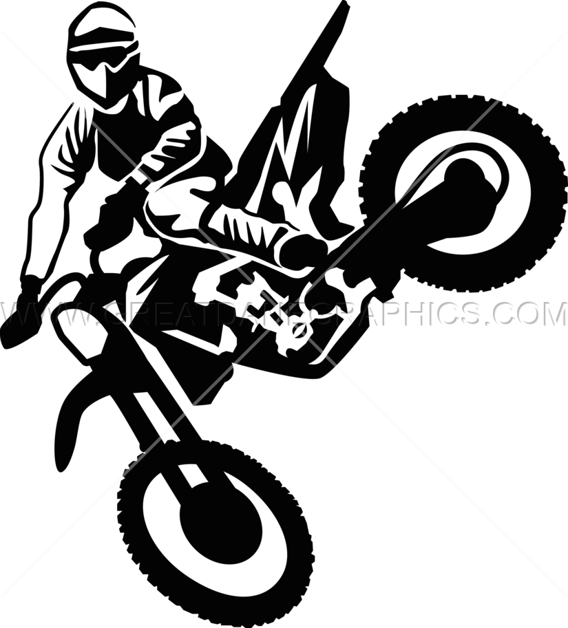 Motor cross clipart clipart free Motocross Jump Kick | Production Ready Artwork for T-Shirt Printing clipart free