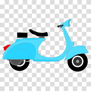 Motor scooter clipart banner black and white library Vintage red and green motor scooter, Old Rusty Moped ... banner black and white library