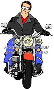 Motorbike guy clipart clip black and white Clip Art Image of a Man Riding On a Motorcycle - Acclaim ... clip black and white