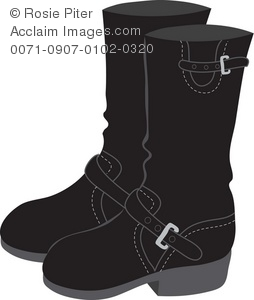 Motorcycle boot clipart