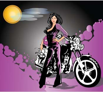 Motorcycle girl clipart svg free library Free Motorcycle girl 6s Clipart and Vector Graphics - Clipart.me svg free library