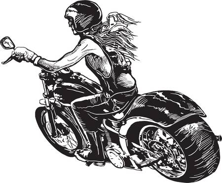 Motorcycle girl clipart png library 1,717 Motorcycle Girl Cliparts, Stock Vect #433036 ... png library