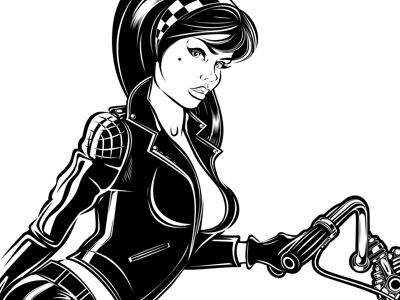 Motorcycle girl clipart clip art royalty free library GIRL ON BIKE by David Vicente on Dribbble clip art royalty free library