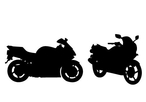 Stunning View of a Motorcycle Silhouette Vector Free ... jpg royalty free download