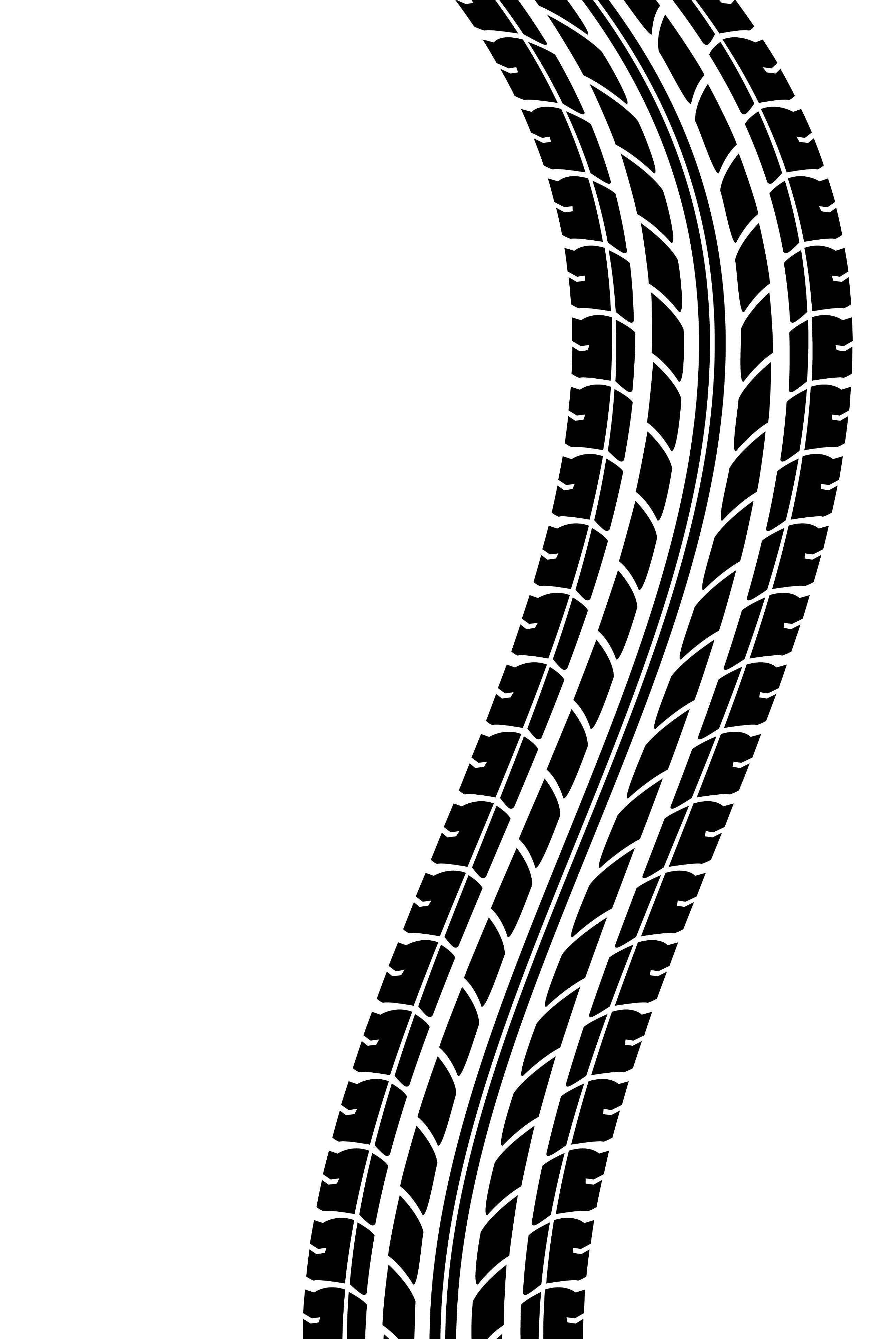 Resultado de imagen para motorcycle tire track vector ... image black and white library