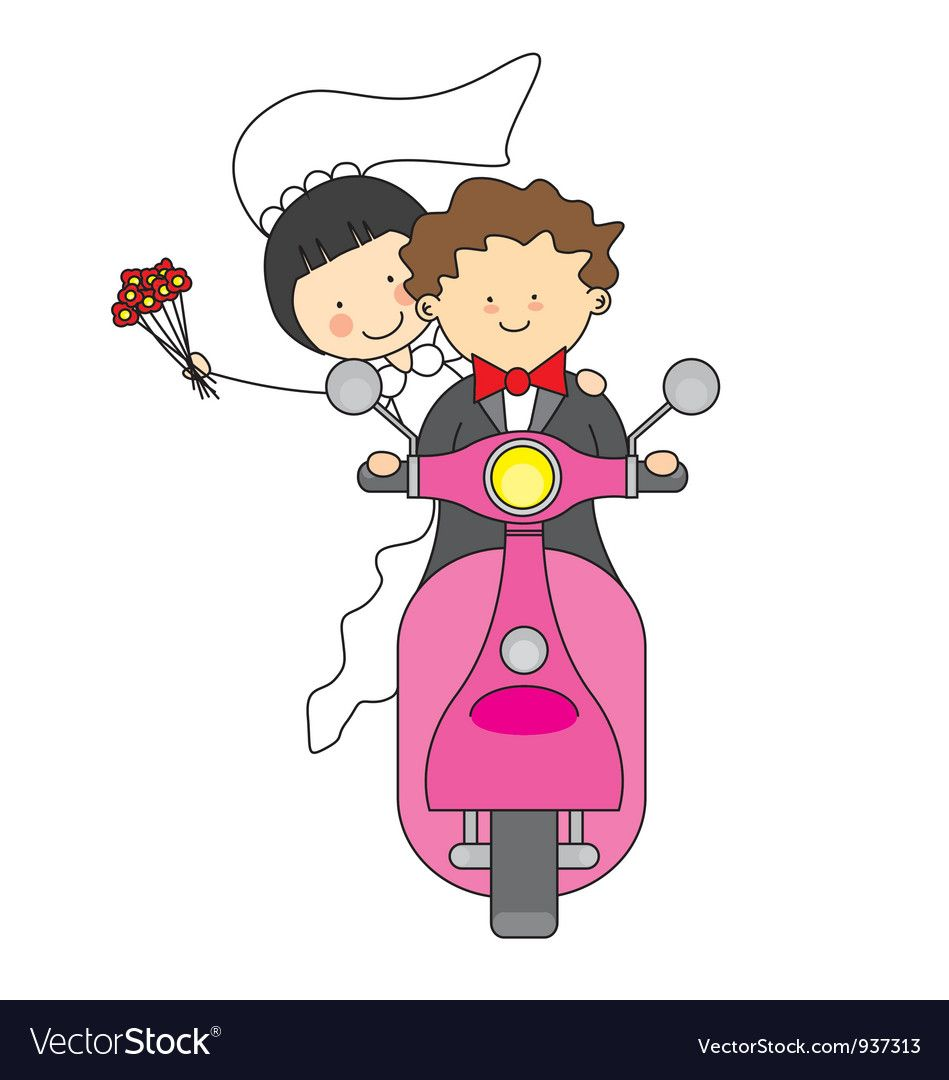 Motorcycle wedding clipart vector free stock Pin by Rusen Simona on tricou in 2019 | Motorcycle wedding ... vector free stock