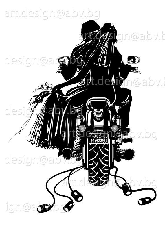 Motorcycle wedding clipart png freeuse stock Motorcycle wedding clipart 5 » Clipart Portal png freeuse stock