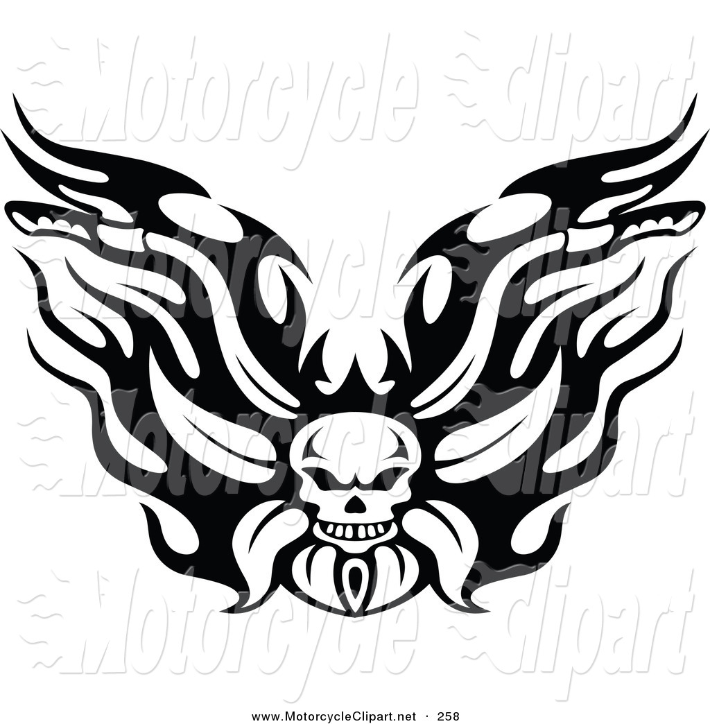 Motorcycle with wings clipart black and white svg royalty free Harley Davidson Clipart | Free download best Harley Davidson ... svg royalty free