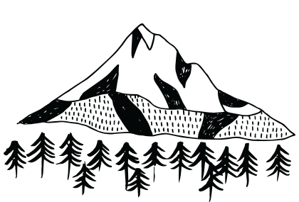 Mount hood clipart vector royalty free library tofurky-banner-mt-hood - Tofurky vector royalty free library