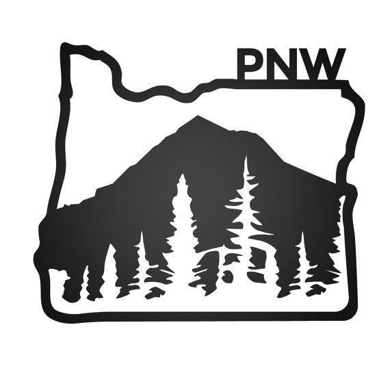 Mount hood clipart clip art free PNW Mt HOOD STICKER by JanaeLynStudio on Etsy | things I ... clip art free