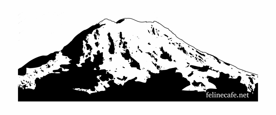 Mount rainier clipart black and white library Mt Rainier Logo With Web Address - Mount Rainier Clipart ... black and white library