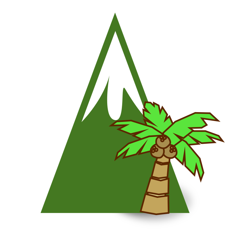 Mountain and tree clipart banner Clipart - Jungle Mountain banner