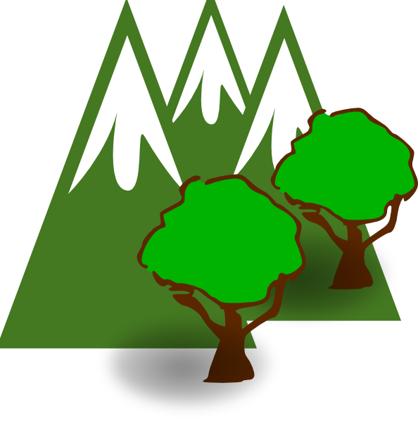 Mountain and tree clipart picture free download Mountain Forest Clip Art at Clker.com - vector clip art online ... picture free download