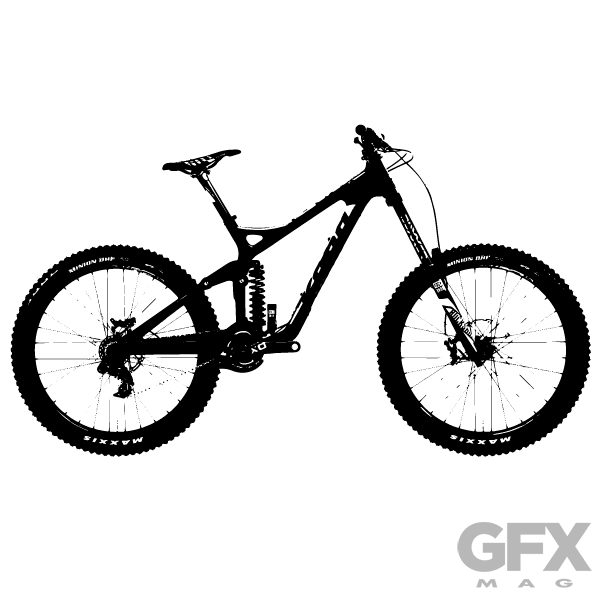Mountain bike clipart silhouette svg library library Free Vector Mountain Bike Silhouette | Fre #164345 ... svg library library