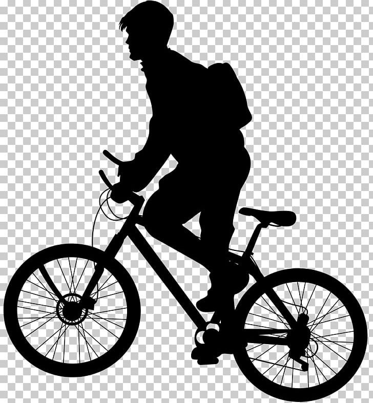 Mountain bike clipart silhouette image royalty free library Bicycle Cycling Silhouette Mountain Bike PNG, Clipart ... image royalty free library