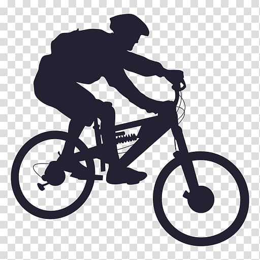 Mountain bike clipart silhouette graphic black and white Man riding in bicycle illustration, Mountain bike Bicycle ... graphic black and white