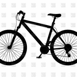Mountain bike clipart silhouette vector black and white stock Silhouette Of Mountain Bike With Gear Shifting Vector ... vector black and white stock