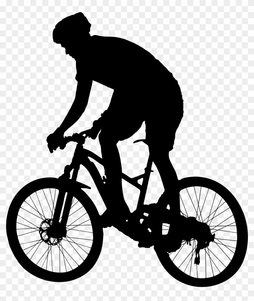 Mountain bike ride clipart black and white clip transparent Svg Freeuse Biker Vector Silhouette - Mountain Bike Clipart ... clip transparent