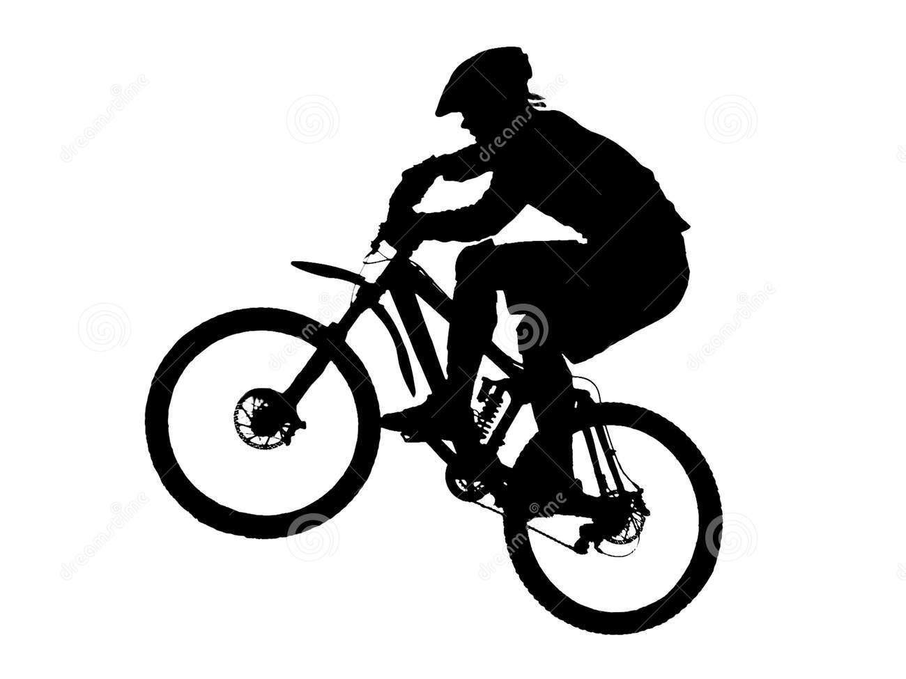 Mountain bike ride clipart black and white picture black and white stock Mountain Bike Clipart | Free download best Mountain Bike ... picture black and white stock