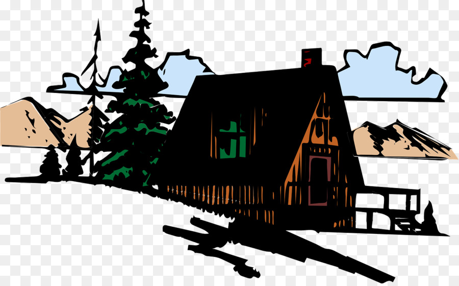 Mountain cabin clipart png download Mountain Cartoon clipart - Cartoon, Mountain, House ... png download