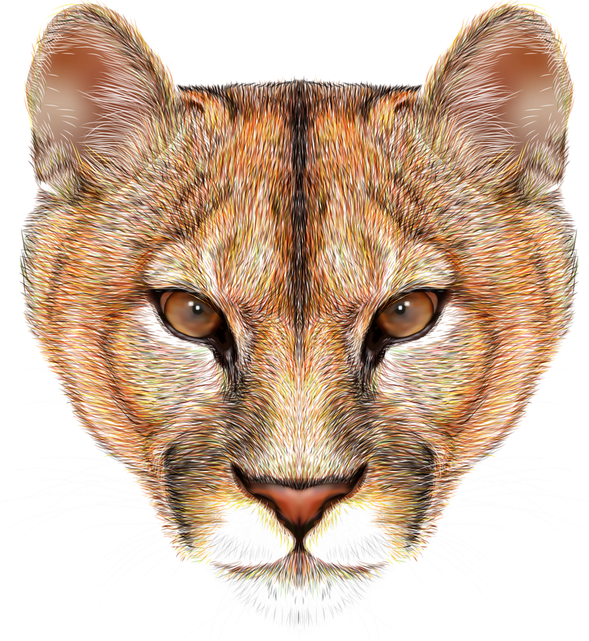 Mountain cat clipart transparent library Mountain lion head background vector [преобразованный].png ... transparent library
