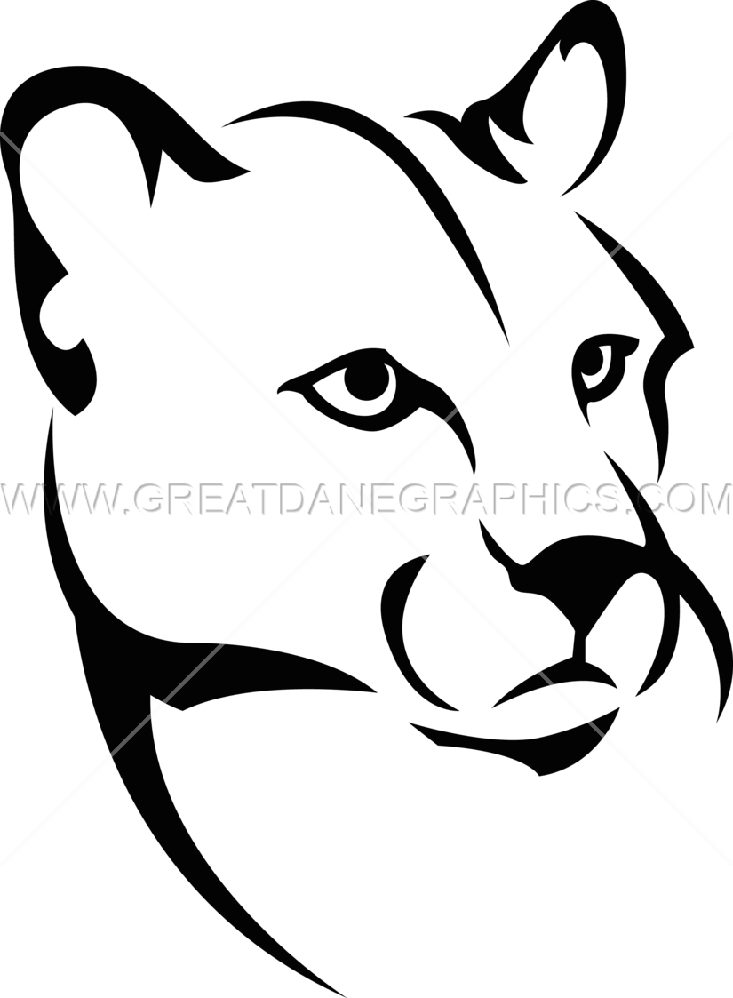 Sun & mountain clipart black and white picture free stock Mountain Lion | Production Ready Artwork for T-Shirt Printing picture free stock