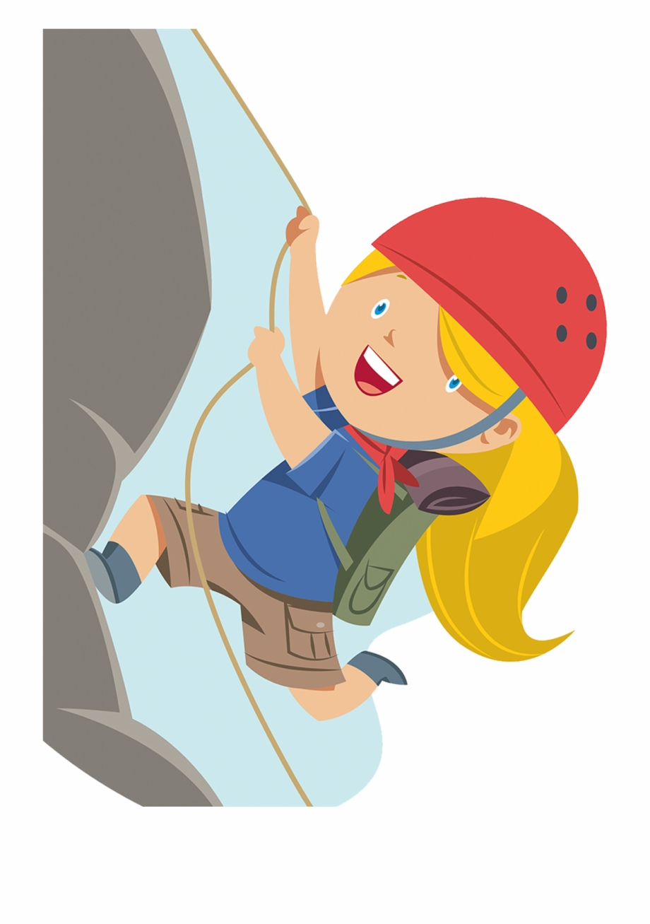 Mountain climbers clipart graphic transparent stock Climbing Mountains Clipart - Cartoon Girl Climbing Mountain ... graphic transparent stock