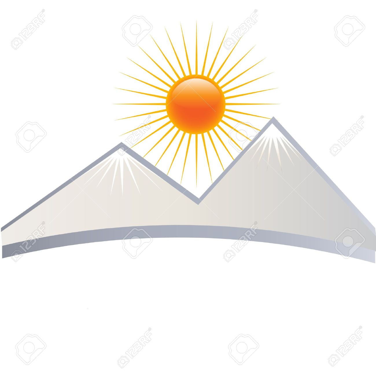 Mountain clipart with a sun behind it jpg library library Free Sun Mountain Cliparts, Download Free Clip Art, Free ... jpg library library