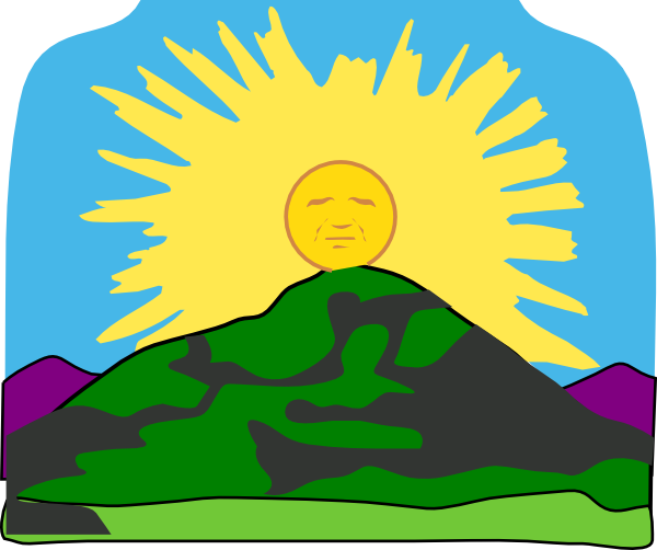 Sun over mountain clipart clip royalty free Sun Rays Mountain clip art (108851) Free SVG Download / 4 Vector clip royalty free