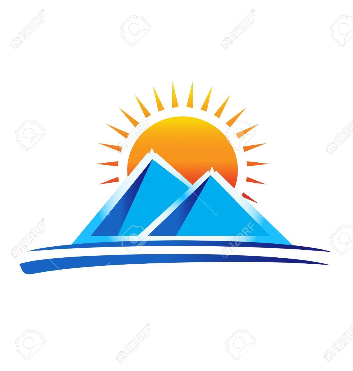 Sun over mountain clipart svg transparent download Mountain with sun clipart » Clipart Portal svg transparent download