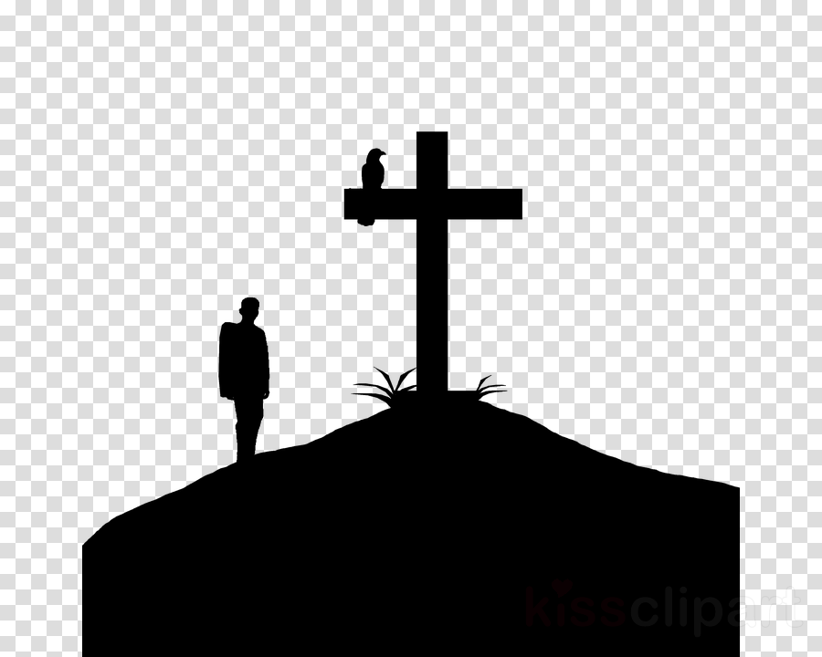 Mountain cross clipart banner black and white stock Silhouette, Christian Cross, Mountain, transparent png image ... banner black and white stock