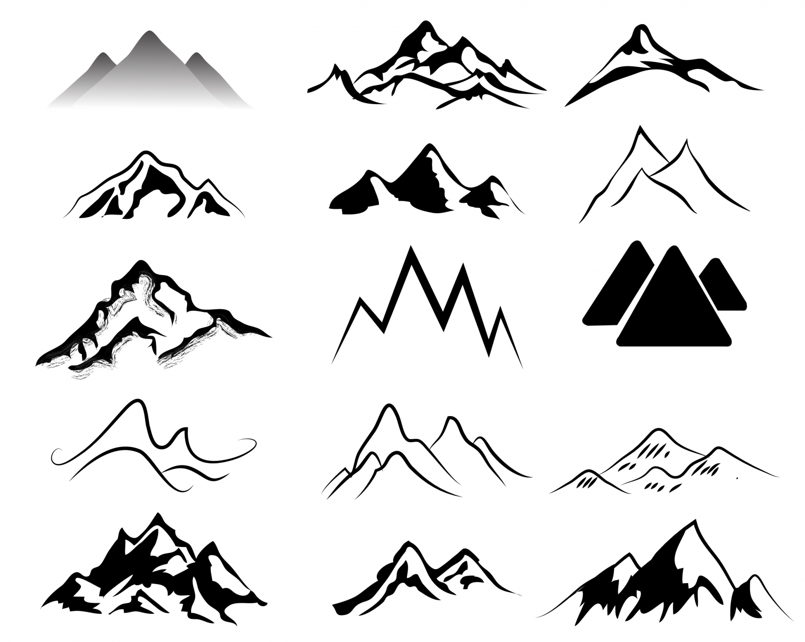 Mountain icon clipart picture library library Free Mountain Icon #371080 - Free Icons Library picture library library