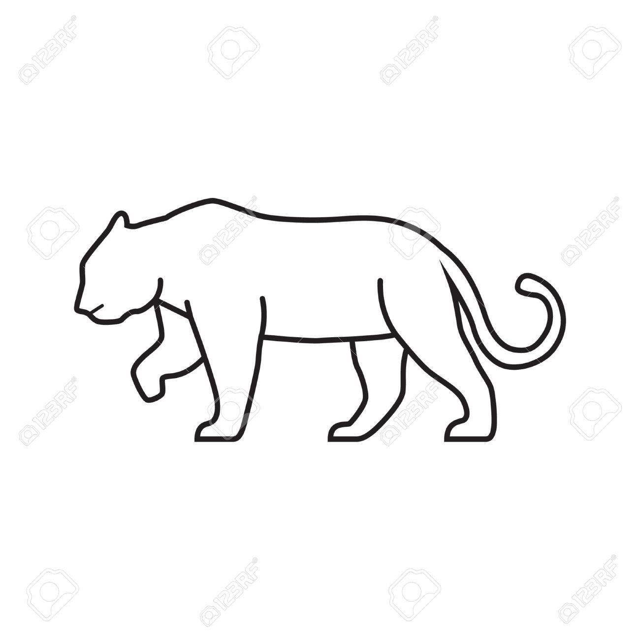 Mountain lion clipart black and white clipart royalty free download Mountain lion clipart black and white 1 » Clipart Portal clipart royalty free download