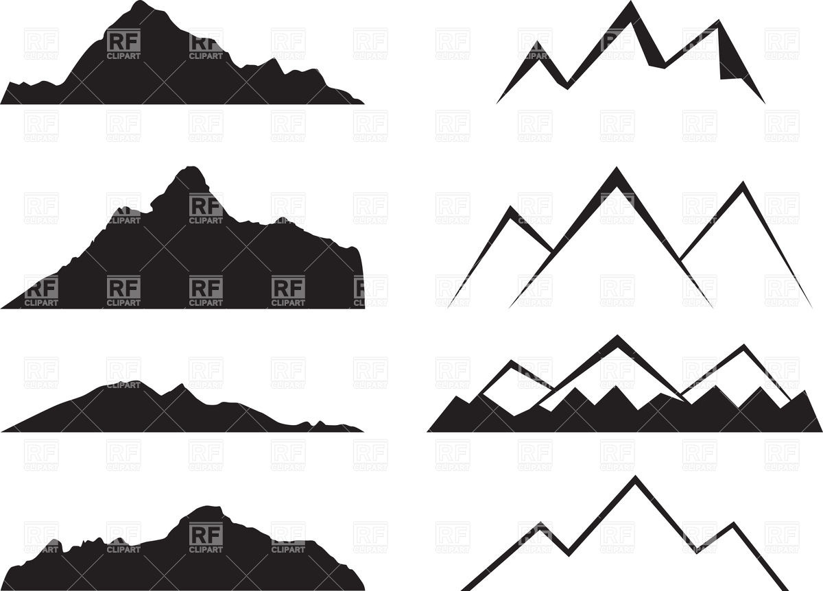 Mountain outline clipart jpeg clipart transparent stock mountain clip art #31 | 68 Mountain Clipart | Clipart Fans clipart transparent stock
