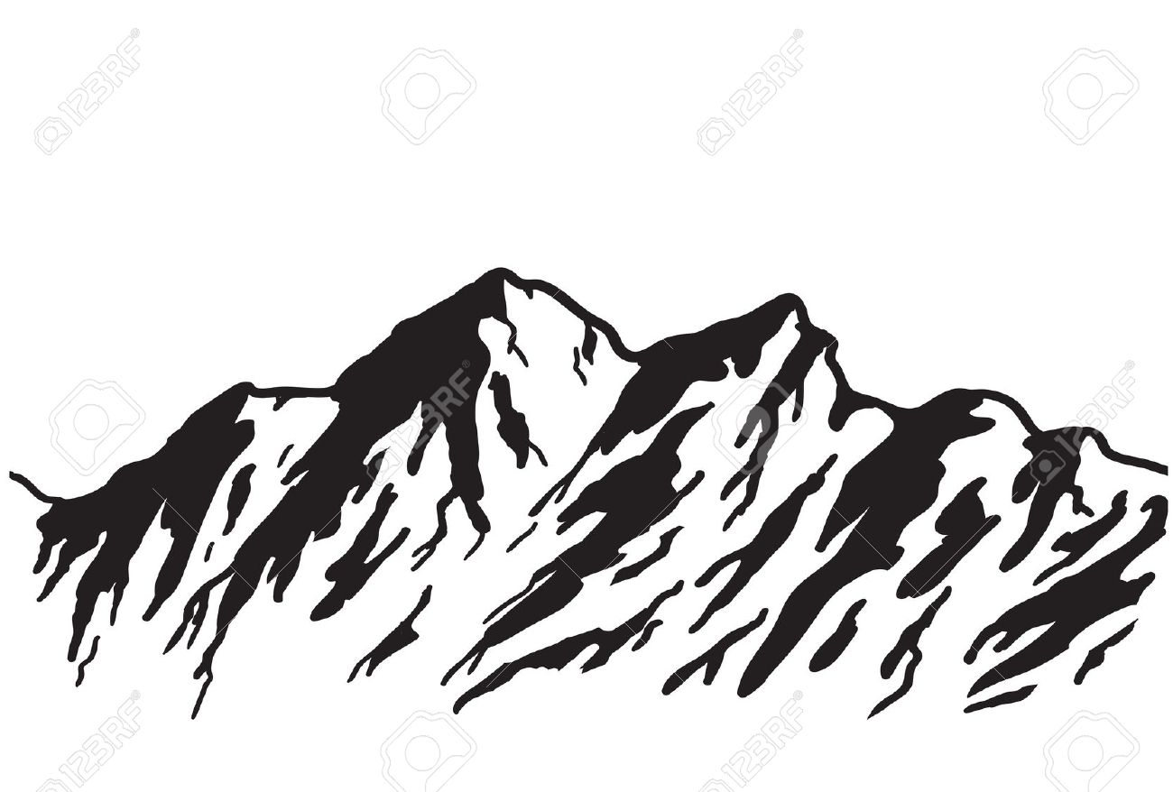 Mountain outline clipart jpeg vector library library 17 Best images about decorate the classrooms! on Pinterest | Coon ... vector library library