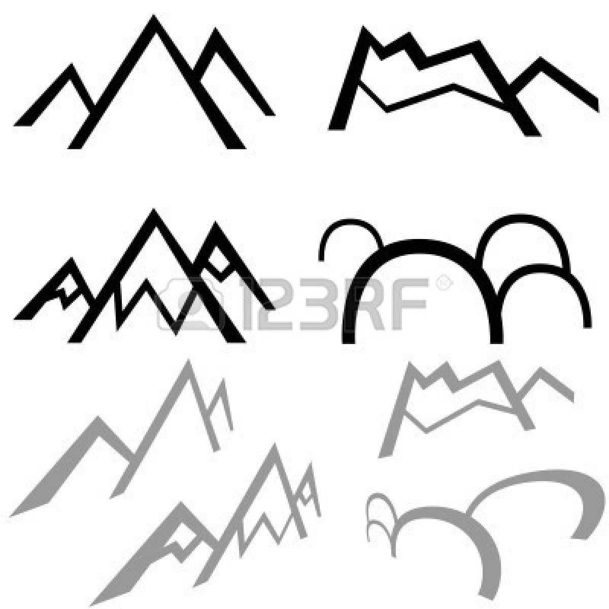 Mountain outline clipart jpeg image free library Mountains Silhouette Clip Art | Clipart Panda - Free Clipart Images image free library
