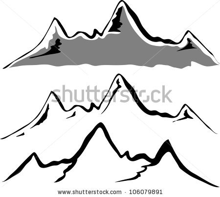 Mountain outline clipart jpeg black and white download Mountains Silhouette Clip Art | Clipart Panda - Free Clipart Images black and white download