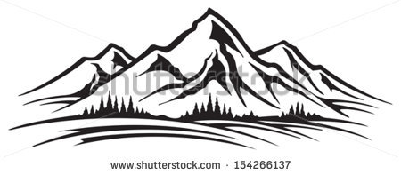 Mountain outline clipart jpeg banner royalty free library Mountain Stock Images, Royalty-Free Images & Vectors | Shutterstock banner royalty free library