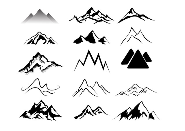 Mountain outline clipart jpeg vector black and white Mountain Clipart | Free Download Clip Art | Free Clip Art | on ... vector black and white