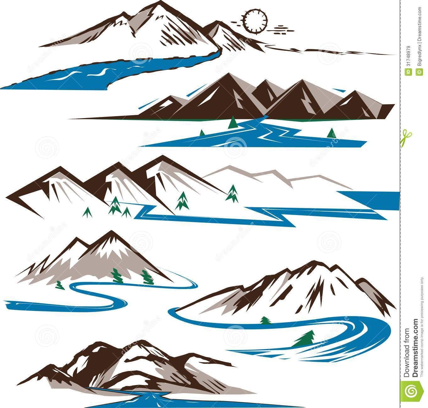 Mountain River Clipart - Clipart Kid clip art library stock