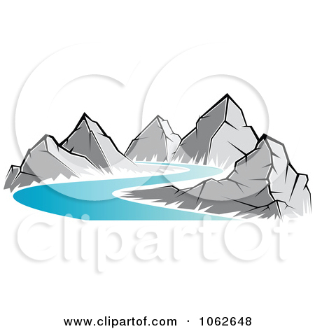 Mountain river clipart - ClipartFest banner black and white library