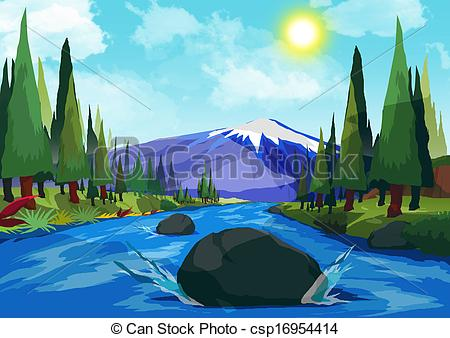 Mountain river Illustrations and Clip Art. 6,150 Mountain river ... clipart royalty free library