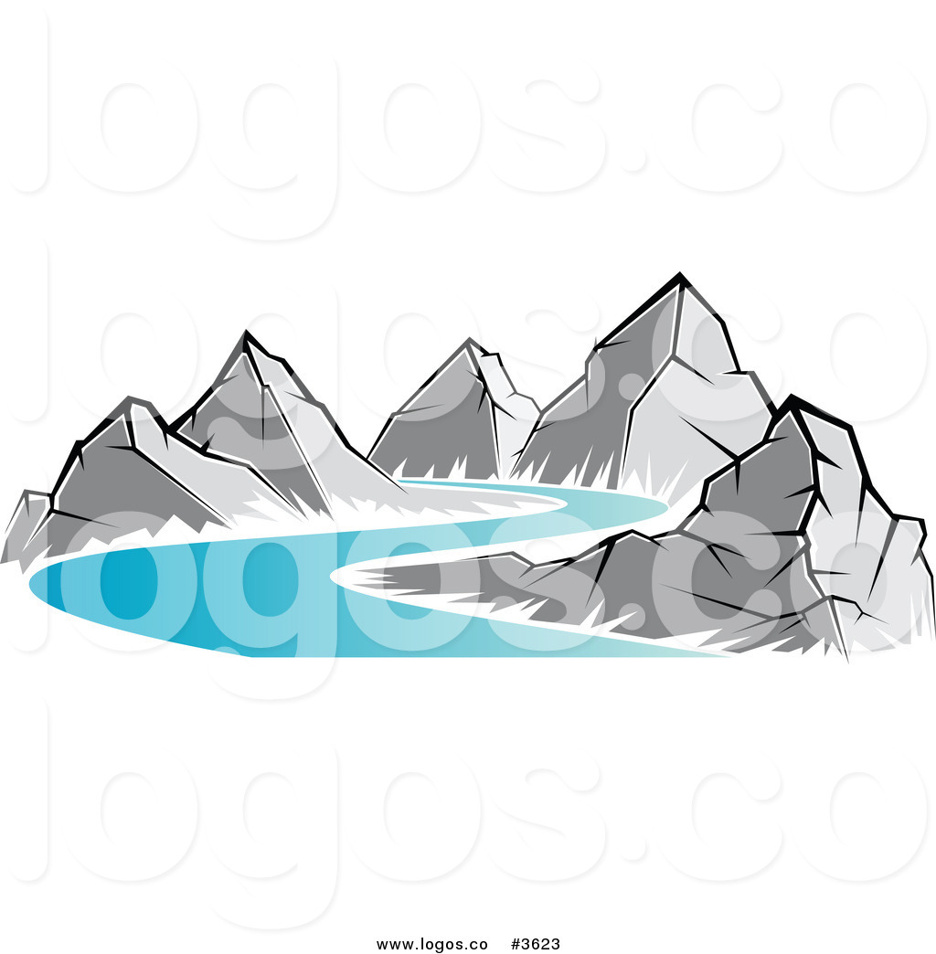 Mountain River Clipart - Clipart Kid vector free stock