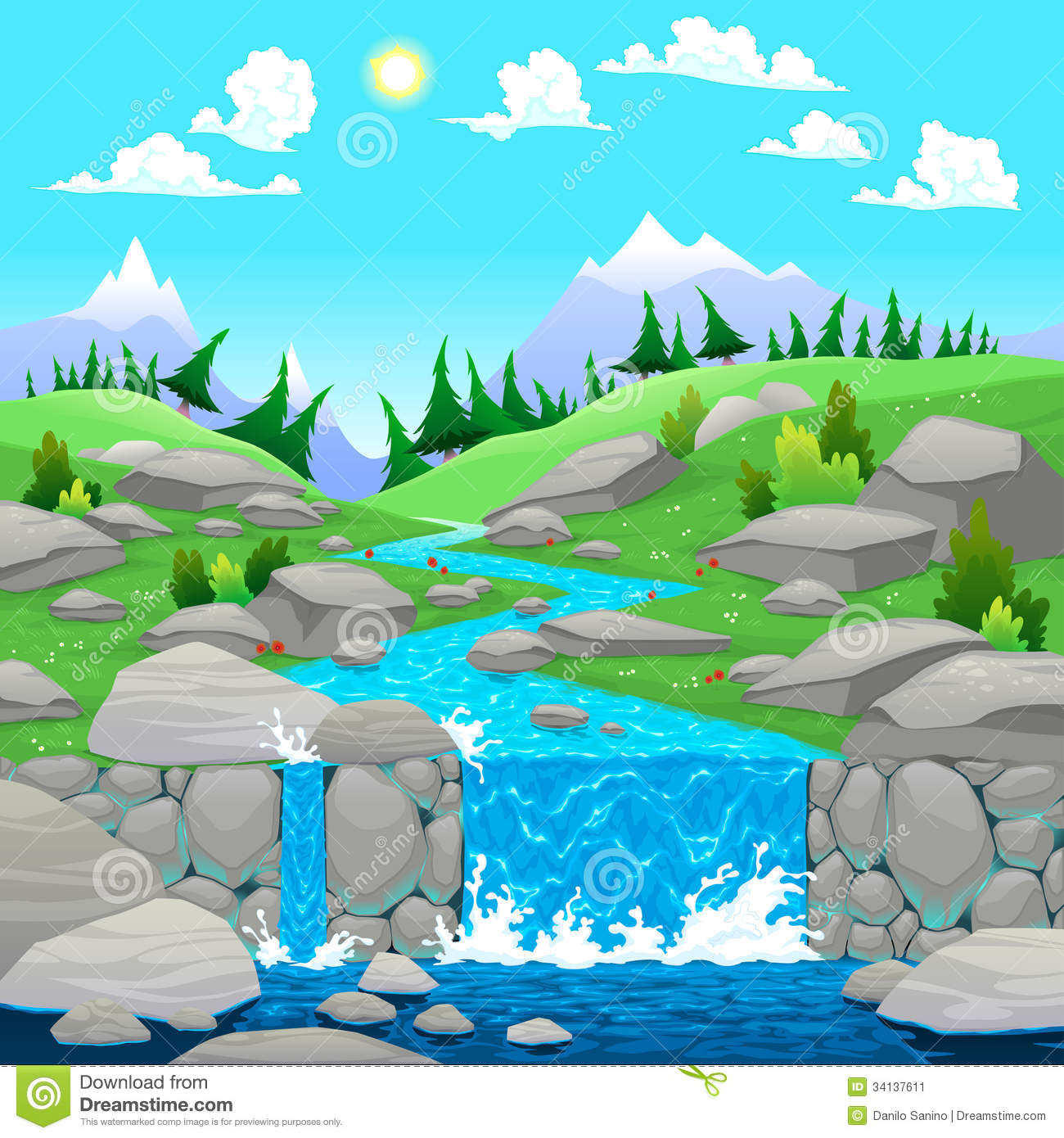 Mountain River Clip Art – Clipart Free Download svg freeuse stock